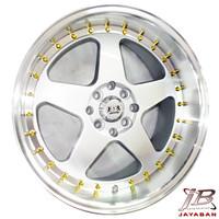 Velg mobil racing ring 17 inch JF ROC H8 Celong Jazz, Fiesta, Yaris