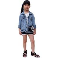 Jaket Jeans Denim Outdoor anak remaja Unisex - Jfashion Shens girl
