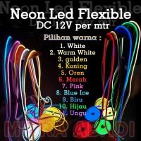 Lampu LED Neon FLEX Strip Light Flexible DC12V METERAN IP65 WATERPROOF