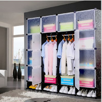 Lemari Pakaian Baju Gantung Plastik Gantung 16 Pintu FUJIAN Wardrobe