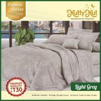 Nutty Nut Sprei Set Micro Jacquard Vl - 120x200x30 Single - Light Grey