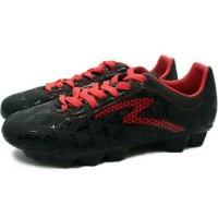 TERLARIS Sepatu Bola Specs Quark FG (Black/Emperor Red) TEMURAH