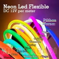 Lampu LED Neon Flex LED Strip Flexible METERAN DC 12V IP65 WATERPROOF