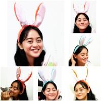 Bando Bunny Hat - Bando Kelinci Lucu Ada Led - Bando Rabbit