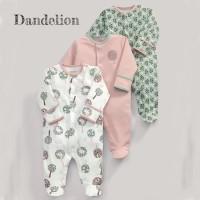 Mamas Papas Sleepsuit Set 3 in 1 Motif Dandelion