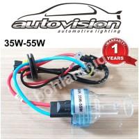 Bohlam Lampu HID Tuner Autovision 35W H3 Original Garansi 1 thn - Kuning