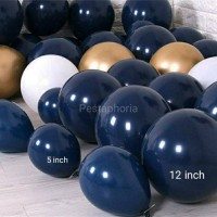 Balon Latex / Lateks Size 5 inch warna Midnight Blue