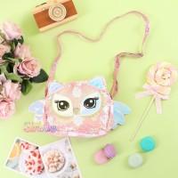 Tas Slingbag / Tas Selempang - Sequin Starfive - Pink Owl