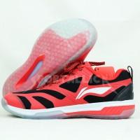 Sepatu Badminton Li-Ning / LiNing AYTP047 Dual Cloud III Red Black