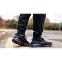 Sepatu Nike Epic React Flyknit Black Racer Blue Premium Original