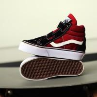 vans anak sk8 high merah hitam / sepatu sekolah