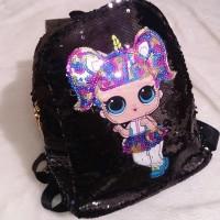 Tas SEQUIN UNICORN Little Pony / Tas Fashion Anak Unicorn