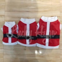 Baju Anjing Kucing Natal/Christmas Santa Claus Kualitas Premium!