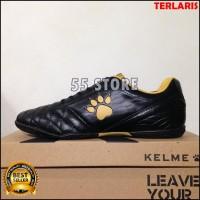 Sepatu Futsal Sale Kelme Power Grip Black Gold 1102091 Pria