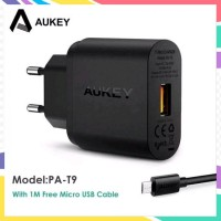 TERMURAH AUKEY PA T9 QUICK CHARGE 3 0 USB SINGLE PORT WALL CHARGER