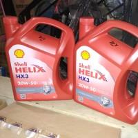 Oli Shell Helix HX 3 SAE 20W-50 Galon 4 Liter Original