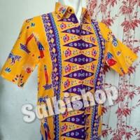 kemeja pria batik ondel motif pucuk rebung