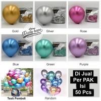 Balon Latex Metalik Chrome / Metalic Balon Chrom Per Pack isi 50 pcs