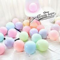 Balon Latex Macaron / Balon Warna Pastel 12 inch Per Pack isi 100 pcs