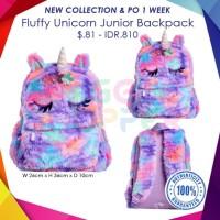 smiggle ORI Fluffy Unicorn Junior Backpack