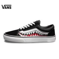 Sepatu pria vans old school bape shark tooth