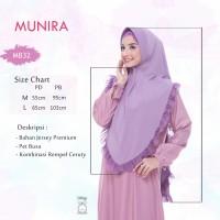 Jilbab MUNIRA MB 32 Original bergo jersey rempel ceruty pet busa