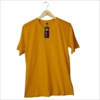 Kaos Polos Oblong Kuning Kunyit Pendek Combed 30s Murah