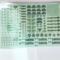 Termurah Water Decal Kshatriya NZ 666 Neo Zeon Gundam 144 HG RG High