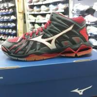 Sepatu Volly Mizuno Tornado X2 Mid Hitam/Merah