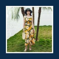 baju pantai dress floral bunga wanita summer musim panas
