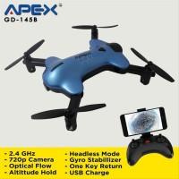 Baru Drone Apex GD-145B Blue Foldable Fpv Wifi Camera Hd 720p Alt