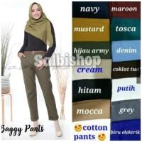 Celana baggy pants basic polos STD - XL - XXL