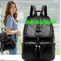 tas wanita tas ransel backpack import tas wanita bahan kulit