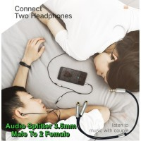 Kabel Audio Splitter Male To 2 Female 3,5mm Jack AUX 3.5mm To Headset