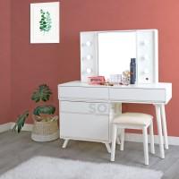 Meja Rias Lampu - Tiffany Dressing Table with LED