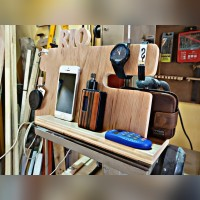 Stand handphone /docking phone / sandaran hp kayu custom nama
