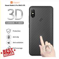 Garskin Carbon Xiaomi Redmi 6 Pro MI A2 LITE Skin Back 3D Anti Gores