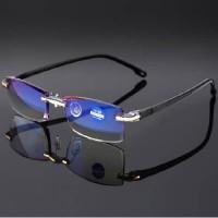 kacamata baca rimles tanpa bingkai lensa anti radiasi blue ray