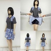 Baju Renang Wanita dengan Rok - Hitam, L