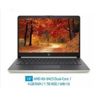 Laptop HP 14s-dk0023AU A9 9425 4GB 1TB AMD R5 WIN-10