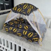 Set Kasur bayi kelambu 5 in 1 set kasur bayi kelambu karakter batman
