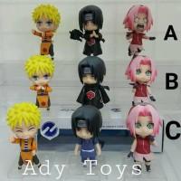 TERBARU 3pcs/Set Naruto Sasuke Sakura Nendroid Figure Movie Anime