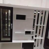 lemari / rak pajangan / sekat ruangan dua ( 2 ) muka