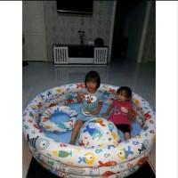 Kolam Renang Intex Plus Bola dan Pelampung - Bak Mandi Anak Bulat