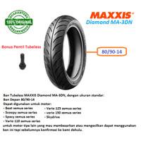 BAN MOTOR MATIC DEPAN TUBELESS 80/90-14 MAXXIS DIAMOND MA-3DN