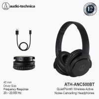 Audio-Technica ATH-ANC500BT Wireless Over-Ear Headphones