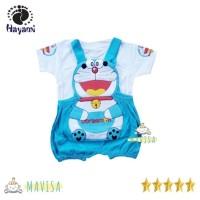 KD05 Hayami Baju Overall Anak, Baju Kodok Bayi 3- 12 bln Doraemon