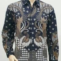 Baju Kemeja Hem Atasan Batik Pria Seragam Lengan Panjang 2182