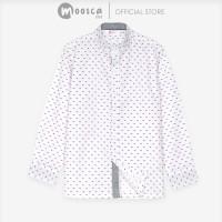Moosca Kidswear Charles Shirt | Kemeja Anak Lengan Panjang | Putih - Size S