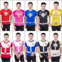 Baju Kaos Kostum POWER RANGERS Series Ready Size Anak dan Dewasa